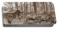 Rustic Wagon Portable Battery Charger
