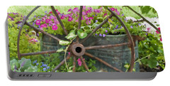 Portable Battery Charger featuring the photograph Rustic Wheel Digital Artwork by Sandra Foster