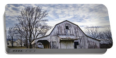 Rustic White Barn Portable Battery Charger