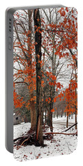 Rustic Winter Portable Battery Charger