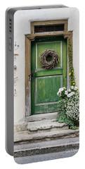 Rustic Wooden Village Door - Austria Portable Battery Charger