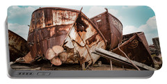 Rusty Boat Hulls - Nautical Vessels Portable Battery Charger