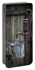 Rusty Hand Water Pump Portable Battery Charger