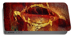 Rusty Kiss Portable Battery Charger by Leanna Lomanski