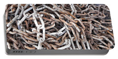Portable Battery Charger featuring the photograph Rusty Links by Cheryl Hoyle