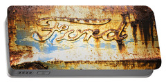Rusty Old Ford Closeup Portable Battery Charger