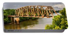 Rusty Old Railroad Bridge Portable Battery Charger by Sue Smith