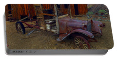 Rusty Old Vintage Car Portable Battery Charger by R Muirhead Art