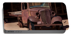Rusty Truck 04 Portable Battery Charger by Wally Hampton