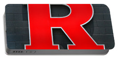 Rutgers Block R Portable Battery Charger by Allen Beatty