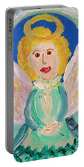 Ruth E. Angel Portable Battery Charger by Mary Carol Williams