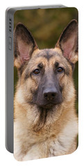 Sable German Shepherd Dog Portable Battery Charger