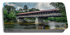 Portable Battery Charger featuring the photograph Saco River Covered Bridge  by Debbie Green