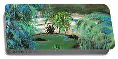 Portable Battery Charger featuring the painting Sacred Cenote At Chichen Itza by Alys Caviness-Gober