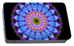 Sacred Crown - Mandala Art By Sharon Cummings Portable Battery Charger by Sharon Cummings