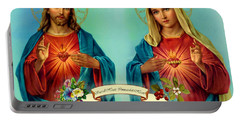 Sacred Heart Immaculate Heart  Portable Battery Charger