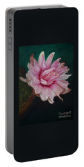 Sacred Red Lotus Portable Battery Charger