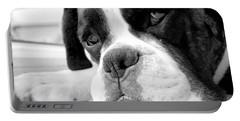 Sad Boxer Dog Portable Battery Charger