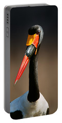 Saddle-billed Stork Portrait Portable Battery Charger
