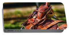 Saddle In Waiting Western Saddle Horse Portable Battery Charger