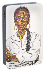 Portable Battery Charger featuring the painting Abstract Sade  by Stormm Bradshaw