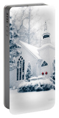 Historic Church Oella Maryland Usa Portable Battery Charger by Vizual Studio