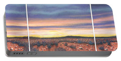 Sagebrush Sunset Triptych Portable Battery Charger