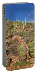 Saguaro And Barrel Cacti  Tonto N M Portable Battery Charger