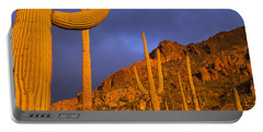 Saguaro Cactus, Tucson, Arizona, Usa Portable Battery Charger