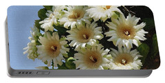 Saguaro Flower Cluster Portable Battery Charger by Tom Janca