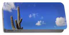 Blue Sky Saguaro  And Clouds Portable Battery Charger
