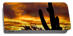 Saguaro Silhouette  Portable Battery Charger