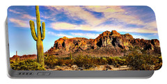 Saguaro Superstition Mountains Arizona Portable Battery Charger