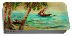 Sail Boats On Indian Ocean  Portable Battery Charger