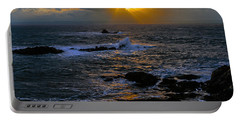 Sail Rock Sunrise Portable Battery Charger by Marty Saccone