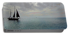 Sailboat At Sea  Portable Battery Charger