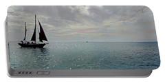 Sailboat At Sea  Portable Battery Charger