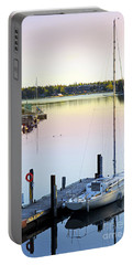 Sailboat At Sunrise Portable Battery Charger