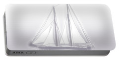 Sailboat Background Lavender Portable Battery Charger by Methune Hively