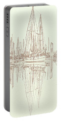 Portable Battery Charger featuring the photograph Sailboat On Liberty Bay by Greg Reed