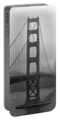 Sailboat Passing Under Golden Gate Bridge Portable Battery Charger