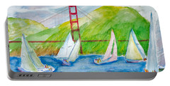 Sailboat Race At The Golden Gate Portable Battery Charger
