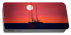 Sailboat Sunset Portable Battery Charger by Venetia Featherstone-Witty