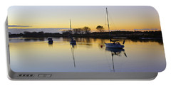 Sailboats In Whakatane At Sunset Portable Battery Charger by Venetia Featherstone-Witty