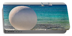 Sailboats Racing In Cozumel Portable Battery Charger by Mitchell R Grosky