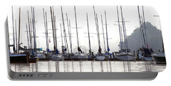 Sailboats Reflected Portable Battery Charger
