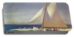 Sailing Boat Portable Battery Charger by Edward Hopper