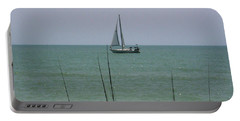 Portable Battery Charger featuring the photograph Sailing In The Gulf by D Hackett