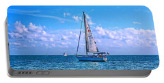 Sailing Off Of Key Largo Portable Battery Charger