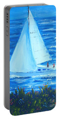 Sailing Off The Coast Portable Battery Charger
